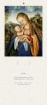 Liturgischer Kalender - Rückwand Maria mit dem Kinde