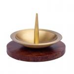 Kerzenständer aus Metall, goldfarben