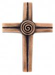 Bronzekreuz mit Spirale
