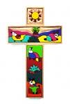 Handbemaltes Kinderkreuz
