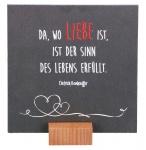 """Schieferplatte """"Da wo Liebe ist"""""""