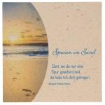 """Natursteinplatte """"Spuren im Sand"""""""