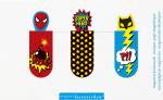 Magnetlesezeichen Superhelden (3er-Set)