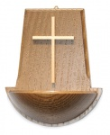 Weihwasserkessel aus Nussbaumholz