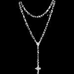 Rosenkranz mit schwarzen Holzperlen Länge ca. 32 cm, Perlen rund, Ø 4 mm