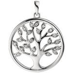 Anhänger Lebensbaum 925er Silber mit 21 Zirkonia