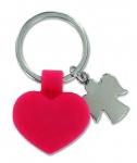 Schlüsselanhänger mit Herz und Metallengelchen