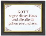 "Keramikfliese ""Gott segne dieses Haus"""