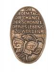 """Bronzehandschmeichler """"Gib jedem Tag die Chance"""""""
