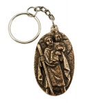 Schlüsselanhänger Christophorus aus Bronze