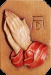 Betende Hände, geschnitzt