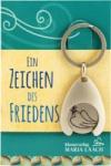 """Schlüsselanhänger """"Ein Zeichen des Friedens"""" mit Einkaufswagenchip"""