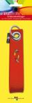 Schlüsselanhänger aus Filz mit aufgesticktem Fisch, rot