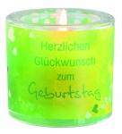 """Glaswindlicht """"Herzlichen Glückwunsch zum Geburtstag"""""""