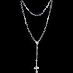 Rosenkranz mit Hämatitperlen Länge ca. 37 cm, Perlen rund, Ø 4 mm