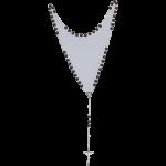 Rosenkranz mit braunen Holzperlen Länge ca. 36 cm, Perlen rund, Ø 5 mm