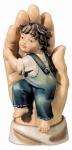 Schützende Hand - Junge, Größe 9 cm
