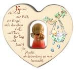 Herz mit geschnitztem Schutzengelchen