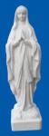 Lourdes-Madonna aus Alabaster, weiß