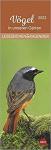 Vögel in unseren Gärten 2022 Lesezeichenkalender