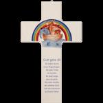 """Kinderkreuz """"Gott gebe dir für jeden Sturm einen Regenbogen"""""""