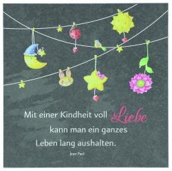 """Schieferplatte """"Kindheit"""""""