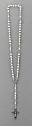 Rosenkranz mit weißen Perlmuttperlen Länge ca. 41 cm, Perlen rund, Ø 6 mm