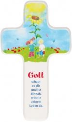 """Kinderkreuz """"Gott schaut zu dir"""""""