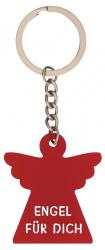 """Schlüsselanhänger """"Engel für dich"""" Acrylglas rot"""