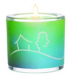 """Glaswindlicht """"Möge Frieden sein in eurem Haus..."""""""