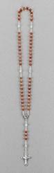 Rosenkranz mit Achat-Perlen Länge ca. 38 cm, Perlen rund, Ø 5 mm