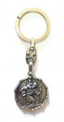 Schlüsselanhänger Christophorus, 10eckig