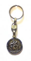 Schlüsselanhänger Christophorus mit farbigem Rand