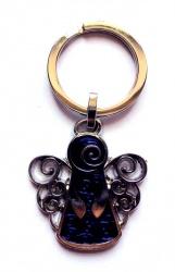 Schlüsselanhänger Schutzengel blau