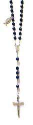 Rosenkranz mit blauen Hämatitperlen Länge ca. 40 cm, Perlen geschliffen, Ø 5 mm