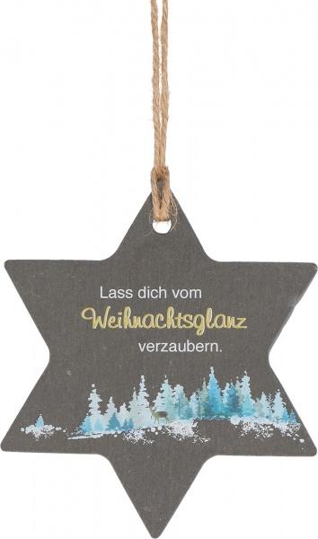 """Schieferanhänger """"Weihnachtsglanz"""""""