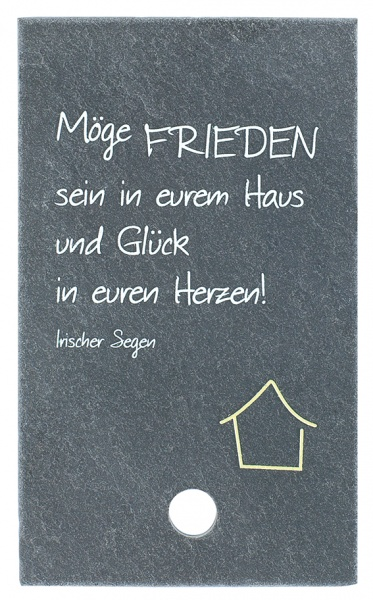 """Schieferplatte """"Möge Frieden sein in eurem Haus"""""""