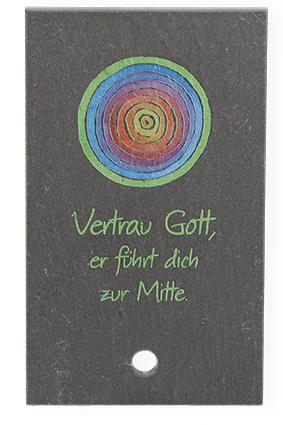 """Schieferplatte """"Vertrau Gott"""""""
