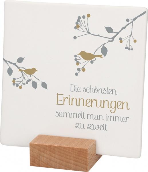 """Porzellantafel """"Die schönsten Erinnerungen"""""""
