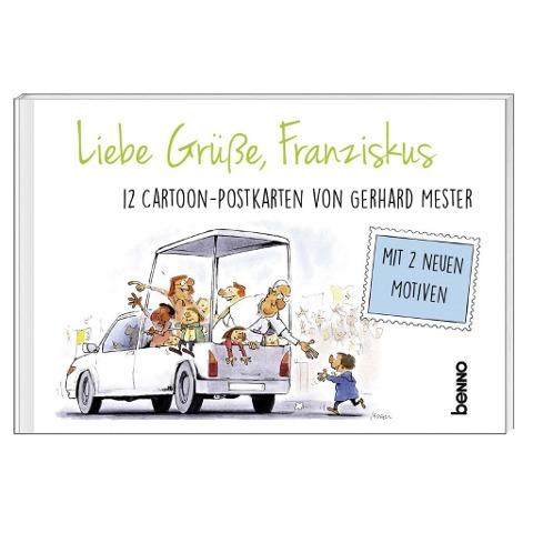 Liebe Grüße, Franziskus - 12 Cartoon-Postkarten von Gerhard Meister
