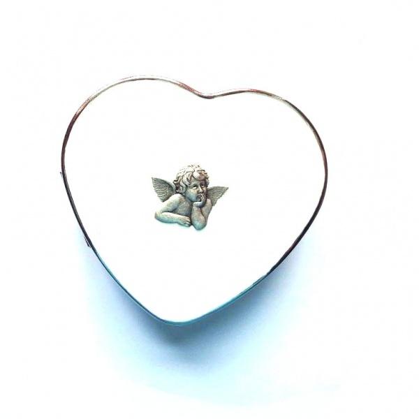 Herzdöschen mit Amorplakette