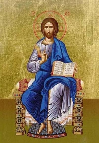 Christus auf dem Thron