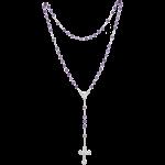 Rosenkranz mit Amethyst-Perlen Länge ca. 38 cm, Perlen rund, Ø 5 mm